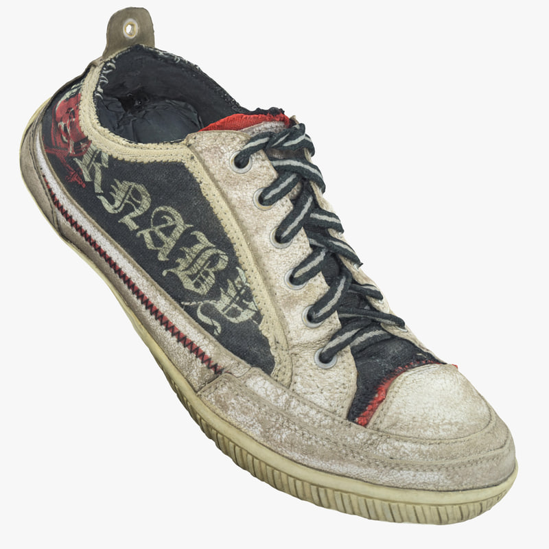 3d realistic carnaby old sneakers