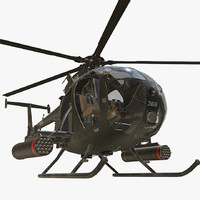mh-6 helicopter 3d model