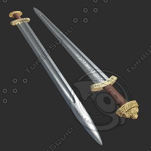 3d viking sword model