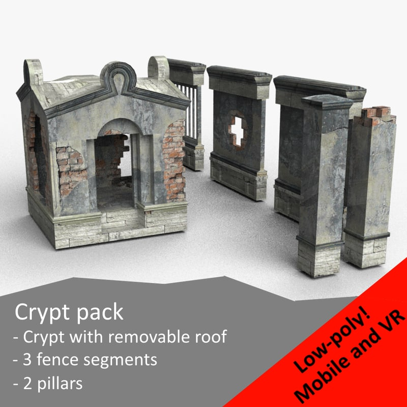 3d model of crypt zombie shooters