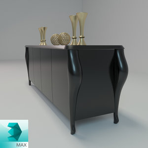 console table decorative 3d model