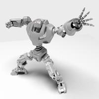 hero robot 3d model