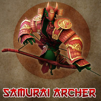 samurai archer 3d model