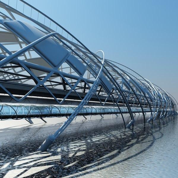 futuristic bridge 2 max