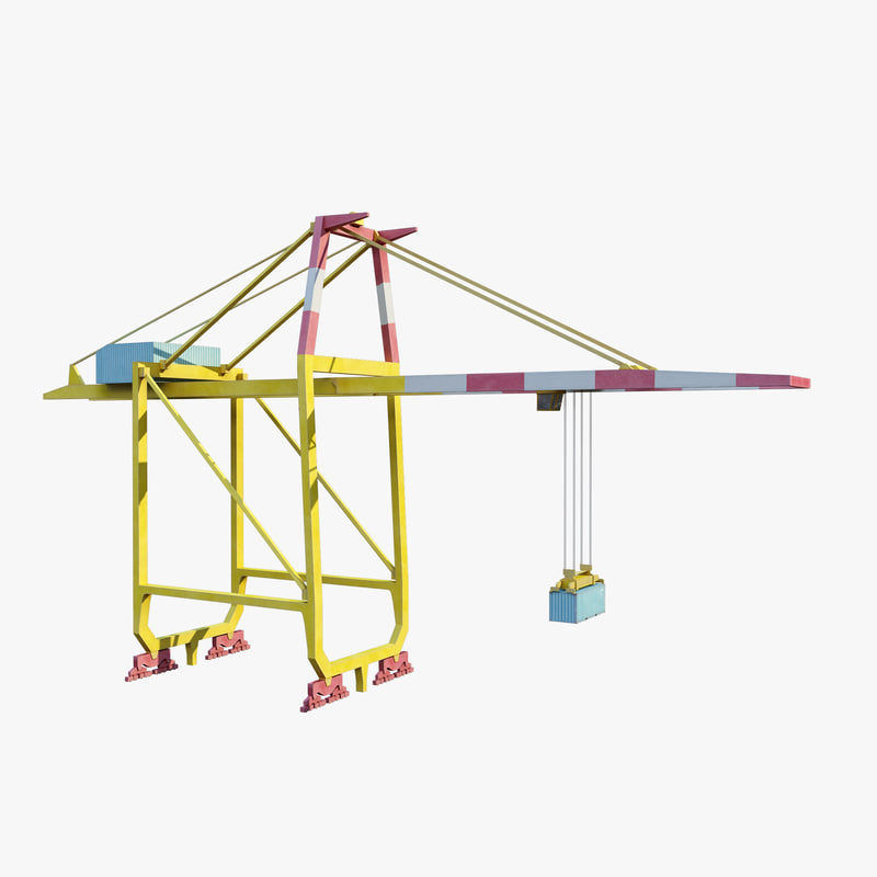 3d model container crane