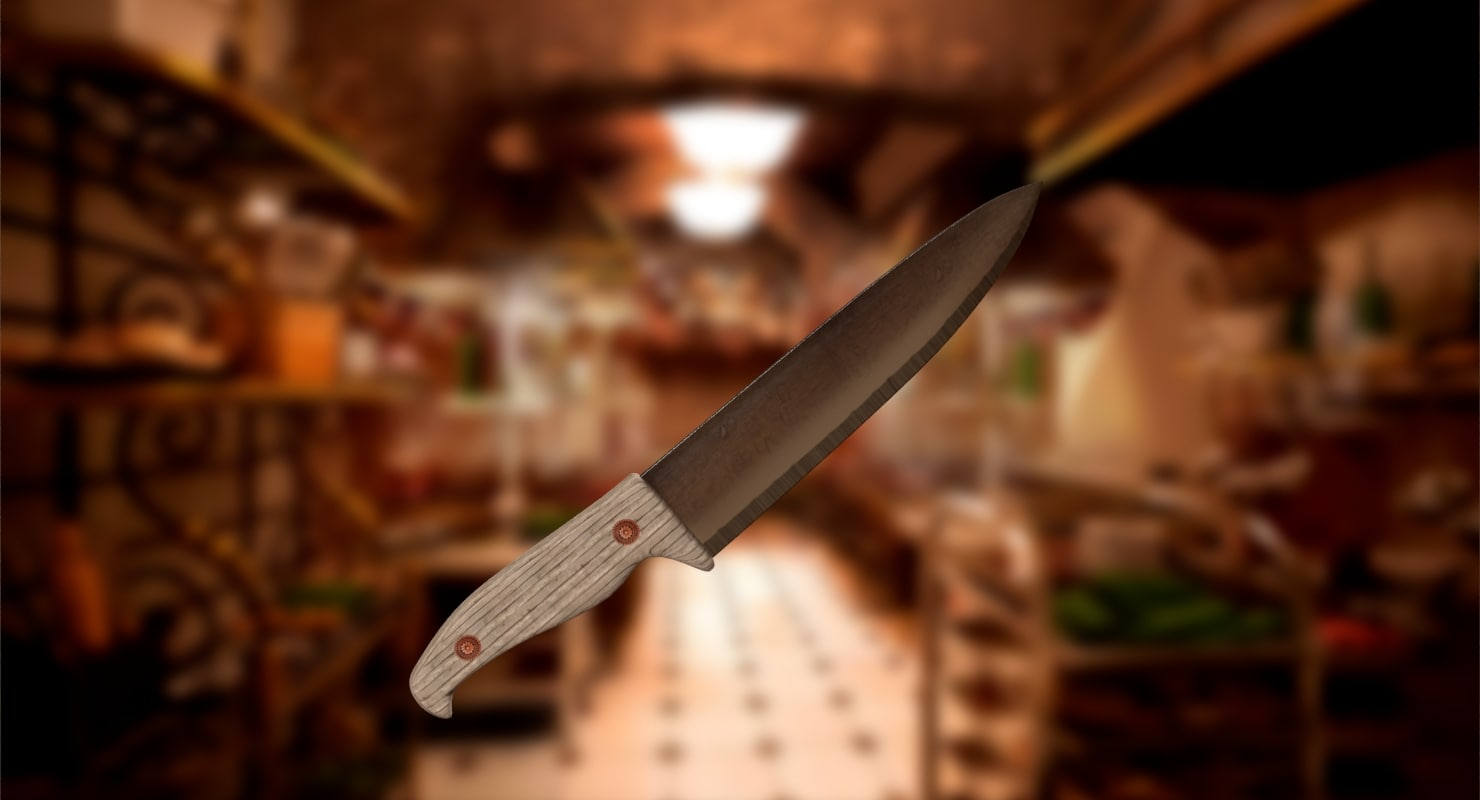 3d chef knife model