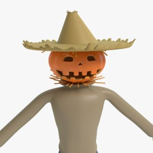3d scarecrow cartoon model