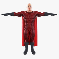 costume super hero fbx