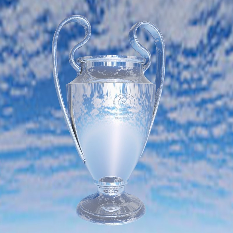 champions league trophy 3d max