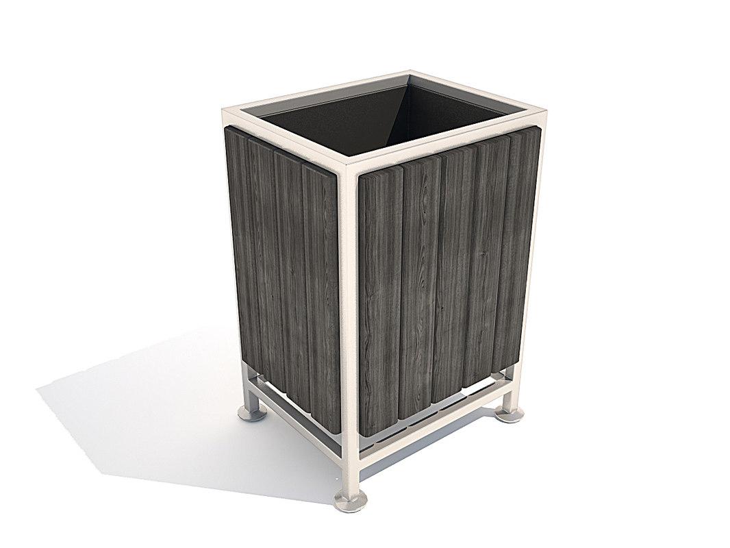 3d trashcan model