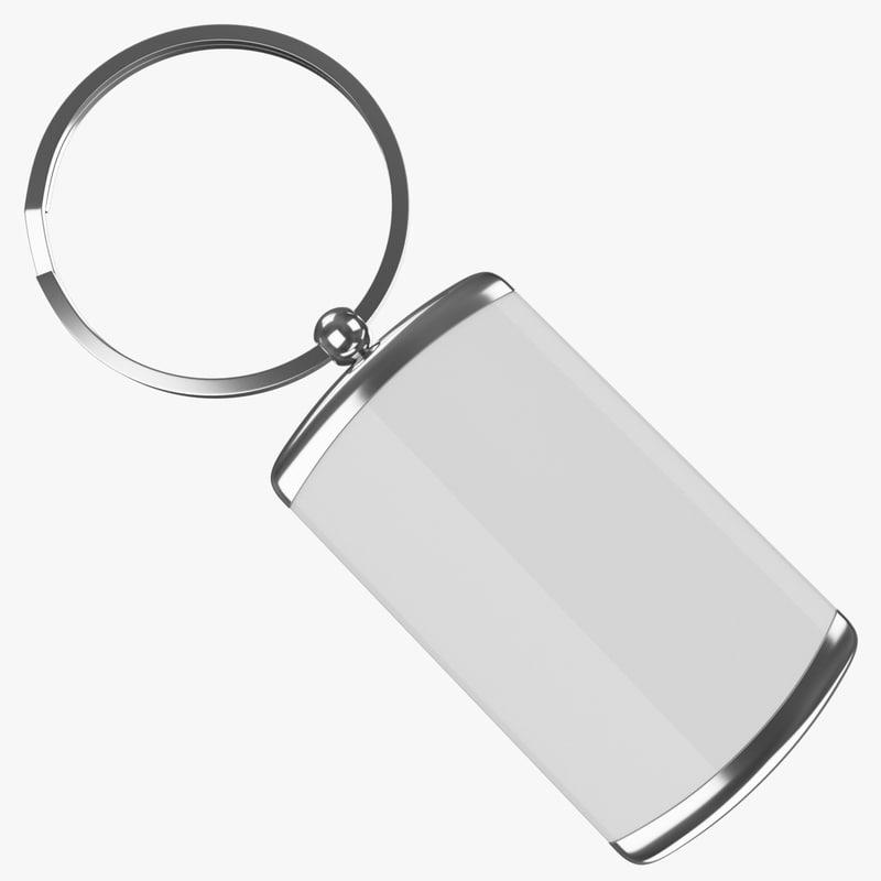 3d keyring ring keys 2 model