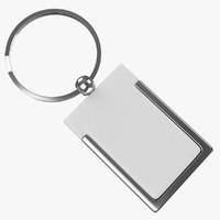 keyring ring keys 1 3d model