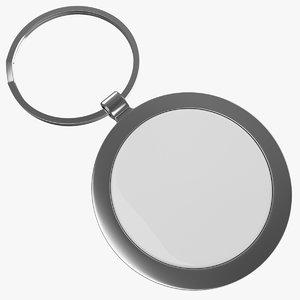 keyring ring keys 3d model