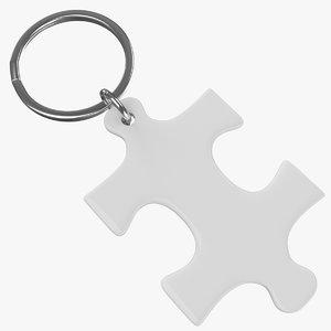 keyring ring keys 3d obj