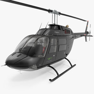 3d model of bell 206b 3 jetranger
