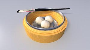 china fish ball 3d model