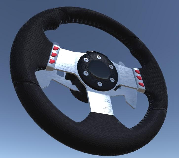 steering wheel vr 3d model