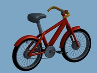 cartoon bicycle obj