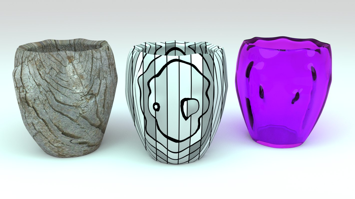 3d model cup glass