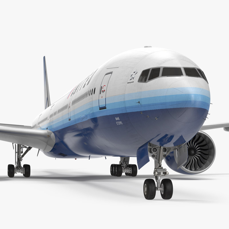 3d model boeing 777-9x united airlines