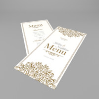 3d obj wedding menu