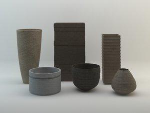 vierkant pots vases planters max