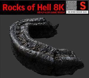 3d model rocks hell 8k
