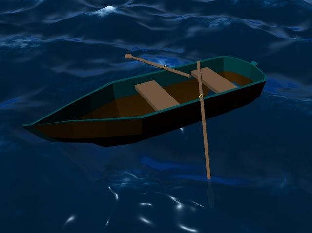 boat ocean 3d ma