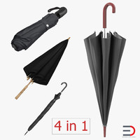 3d closed umbrellas 2 model