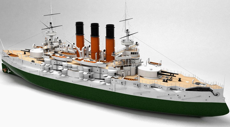 battleship russian fleet 3d model