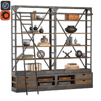 industrial iron rack 3d max