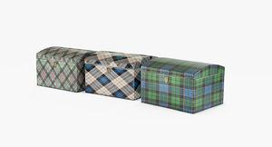 tartan boxes 3d max