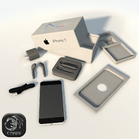 3d model of iphone 7 package
