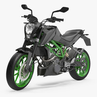 Generic Sport Motorcycle Rigged 3D Model