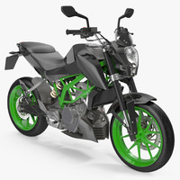 3d model generic sport motorcycle