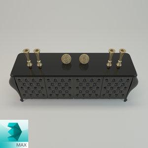 3d classic sideboard decorative model