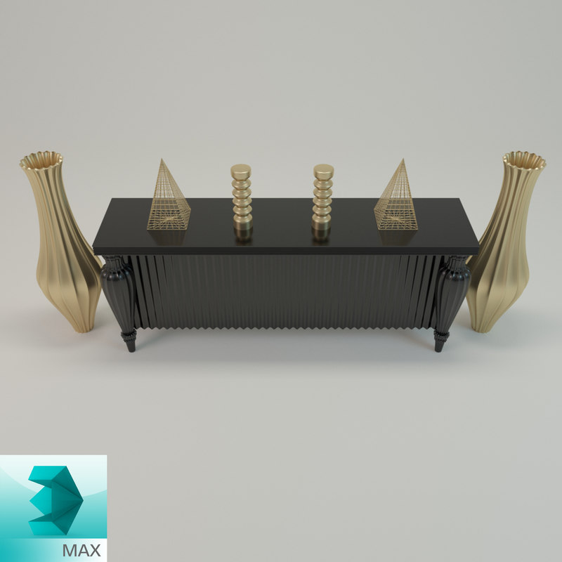 3d sideboard decorative model