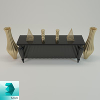 3d sideboard decorative model