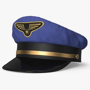 3d pilot hat model