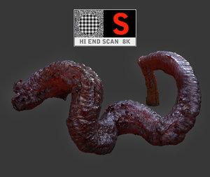 alien meat tentacle 3d max