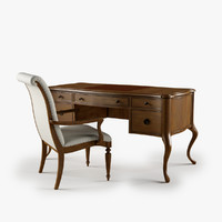 max archivist writing desk upholstered