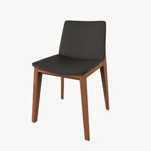 realistic modern chair 3d obj