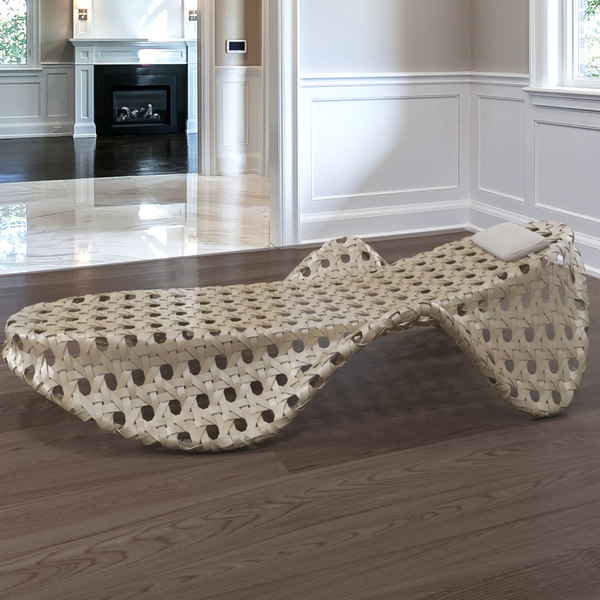 3d wicker deck chair model