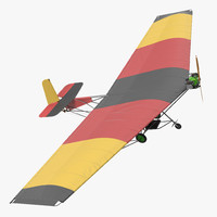 ultralight aircraft chotia weedhopper 3d model