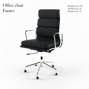 office chair eames 3d model