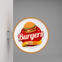 3d wall signboard burger