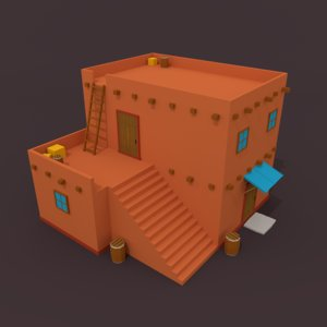 3d model arab house