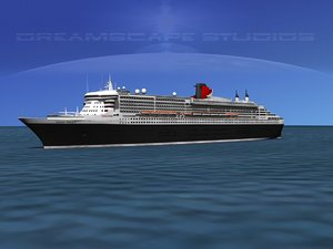 3d model of ocean liner queen mary