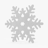 3d model white decorative snowflake