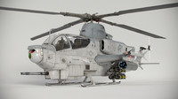 3d bell ah-1z viper attack helicopter model